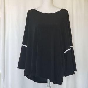 EUC Calvin Klein Black/White Blouse Size 1X